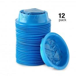 12 Pack Blue Emesis Bags Blue Waste Disposal Bags